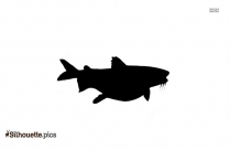 Flounder Fish Silhouette Clipart Image