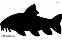 Artic Fish Silhouette Clipart