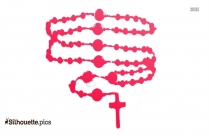 Catholic Rosary Logo Silhouette For Download