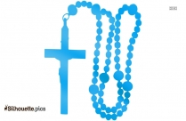 Catholic Rosary Silhouette Drawing