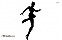Catwoman Jumping Silhouette