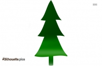 Norway Spruce Tree Silhouette, Clip Art Image