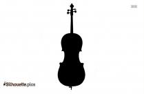 Black And White Cello Silhouette