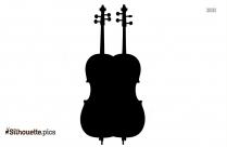 Violin Symbol Silhouette