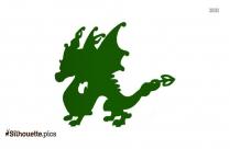 Cartoon Dragon Boy Silhouette
