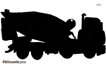 Cement Truck Silhouette Vector And Graphics