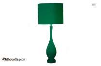 Table Lamp Silhouette Black And White