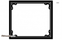 Certificate Border Silhouette Drawing
