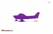 Flying Aeroplane Silhouette Icon