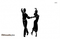 Chacha Dance Silhouette Image