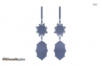 Black And White Larimar Earrings Silhouette