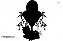 Chalice And Eucharist Silhouette Drawing