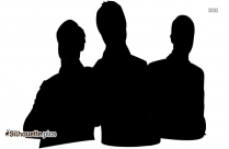 Challenging Employees Silhouette Free Vector Art
