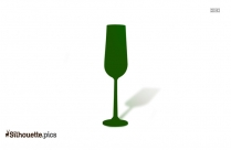 Set Of Two Champagne Glasses Silhouette