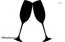 Champagne Glass Silhouette,vector