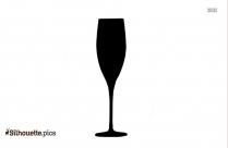 Champagne Glass Vector Silhouette