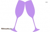 Champagne Cheers Silhouette