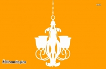 Chandelier Clipart Silhouette Drawing
