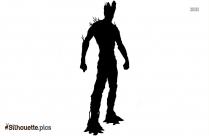 Spider Man Pose Vector Silhouette