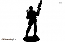 Character Lobo Statue Silhouette Illustration