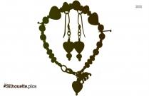 Silver Chain Silhouette Illustration