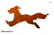 Dog Running Silhouette Vector