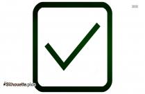 Check Mark In Box Clip Art, Check Box Silhouette