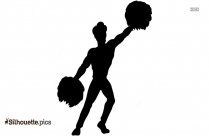 Cheerleader Dance Silhouette Vector