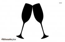 Mermaid Wine Glass Silhouette Drawing