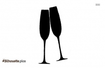 Cheers Wine Glass Background Silhouette