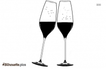 Cheers Wine Glasses Silhouette Free Vector Art