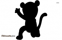 Black Cute Baby Unicorn Silhouette Image