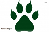 Cheetah Footprint Silhouette Art