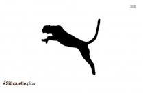 Cheetah Jumping Silhouette Icon