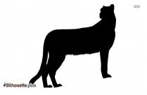 Cheetah Panther Silhouette Clip Art