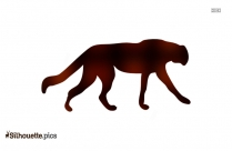 Black Vicuna Silhouette, Animal Clipart Image