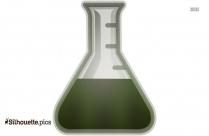 Chemistry Beaker Flask Silhouette Background