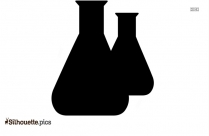 Chemistry Flask Silhouette Drawing