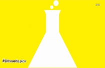 Cartoon Conical Flask Silhouette, Lab Apparatus Clipart