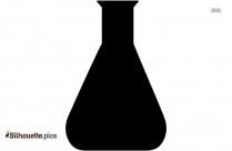Cartoon Volumetric Flask Silhouette