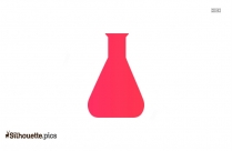 Laboratory Conical Flask Silhouette Icon