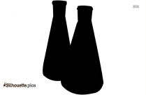 Black And White Chemistry Flask Silhouette