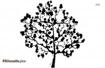 Cartoon Apple Tree Silhouette