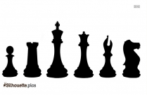 Chess Board Pieces Silhouette Clipart