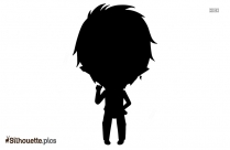 Cartoon Boy Icon Silhouette