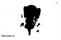 Pretty Girl With Knife Clipart Silhouette
