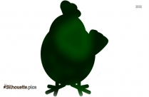 Chicken Cartoon Clip Art, Silhouette