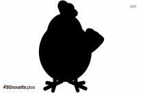 Chicken Cute Cartoon Silhouette