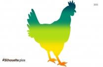 Chicken Silhouette Image, Vector