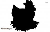 Cartoon Chicken Silhouette Clip Art